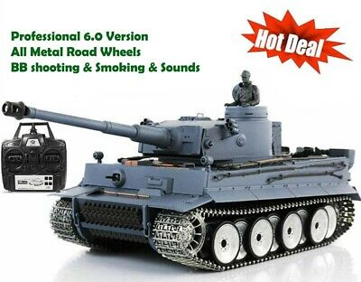 Heng Long Radio Remote Control RC German Tiger Tank PRO ALL Metal Road Wheels UK