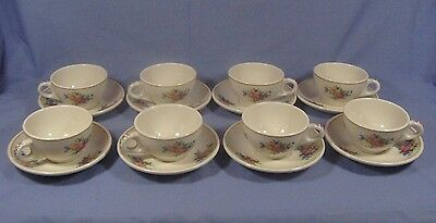 Set of 8 Colonial Syracuse China Restaurant-ware Cups & Saucers 89 & 93