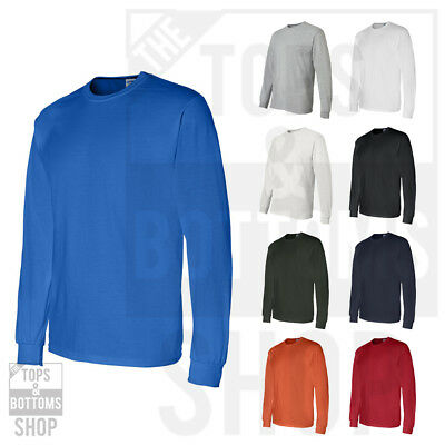 Gildan Mens DryBlend 50/50 Plain Long Sleeve T Shirt S-3XL - 8400