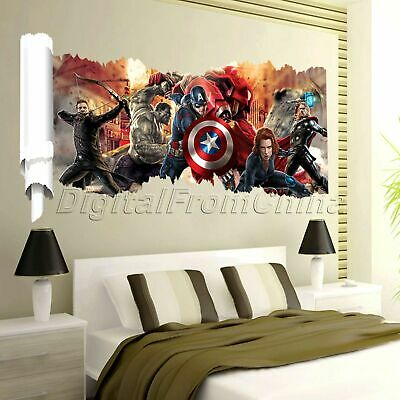 3D The Avengers Wall Sticker Body Bedroom Home Decor Boys Gift Mural Art Decals