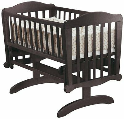 Sorelle Dondola Baby Infant Child Gliding Cradle and Mattress, Espresso - NEW