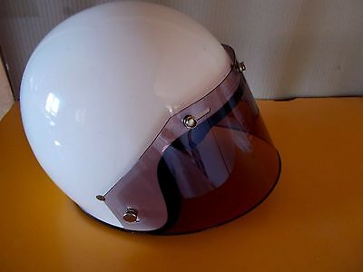 Open face helmet 5 Snap Shield SMOKED Vintage style
