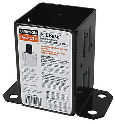 BOX of 10 - EZ Retro Fit, Fence Post Base FPBB44 Simpson Strong Tie 147533 x10