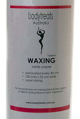 Waxing Disposable Bed Roll - 100 metre length. Perforated for salon beds.