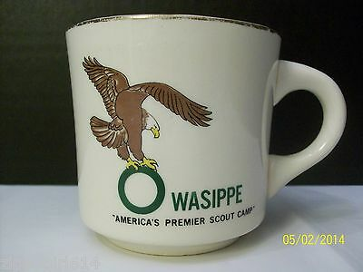 Boy Scouts BSA Camp Owasippe Ceramic Coffee Mug Cup Chicago Area Vintage Eagle