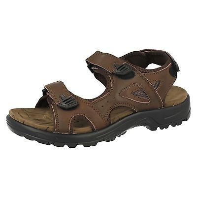 Mens Northwest Arabia Brown Leather Casual Sandals