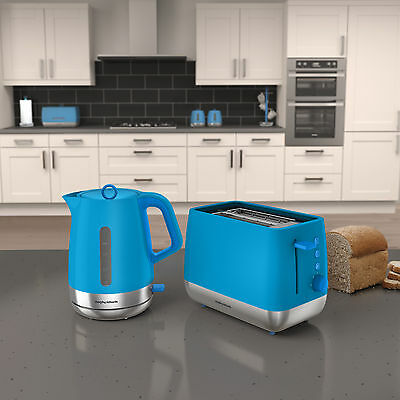 Morphy Richards 101210 - 221110 Chroma Kettle & Toaster Set in Iris Blue - NEW