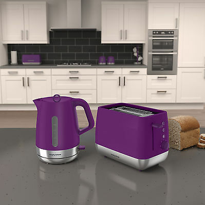 Morphy Richards 101211 - 221111 Chroma Kettle & Toaster Set -Orchid Purple - NEW
