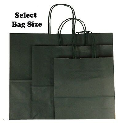 Dark Green Paper Gift Bags ~ Boutique Shop Party Bag ~ Size Small Medium Large
