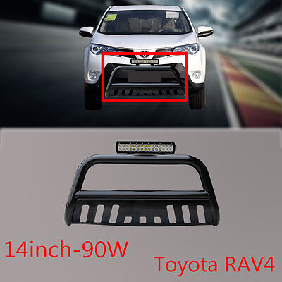 3'' Black HD RAV4 2013-2015 Nudge Bar +90w Cree LED light bar+Free wiring kit