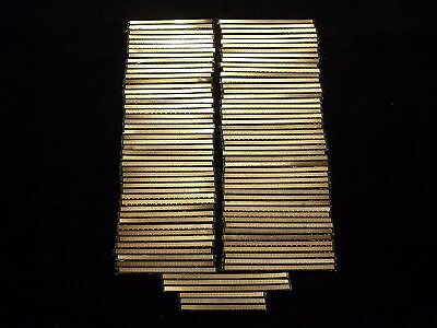Lot Of 100 Scrap Ram Gold Fingers High Yield Double Sided Computer Gold Recovery
