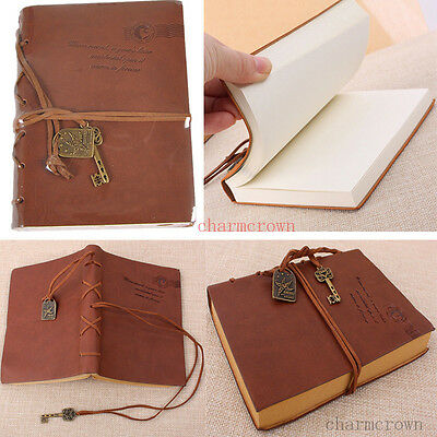2x Retro Classic Vintage Leather Key Blank Diary Journal Sketchbook Notebook New