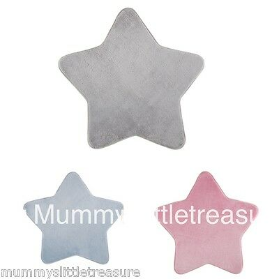 Little Dreams Baby Soft Fluffy Star Shaped Nursery Rug Carpet Mat Choose Colour