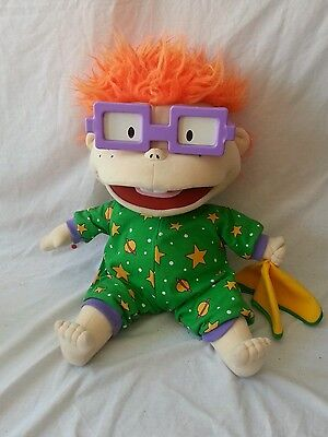 """Rugrats Chucky Bed Time Large 17"""" Soft Toy  Plush Doll  Nickelodeon 1998 Rare"""