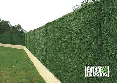ARTIFICIAL CONIFER HEDGE FENCE GARDEN WALL PRIVACY SCREENING 3m FAKE GRASS ROLL
