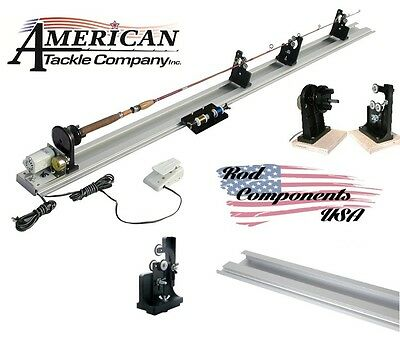 American Tackle Power Fishing Rod Wrapper W/Dryer 110V W/4' Base & Rod Support
