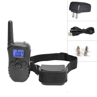 Pet Dog Training Collar Rechargeable Electric LCD 100LV Shock 1 Collar