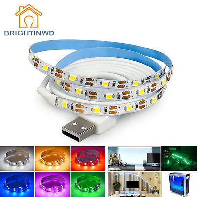 USB LED Strip SMD3528 50CM/1M/2M/3M non Waterproof Holiday lights TV Background