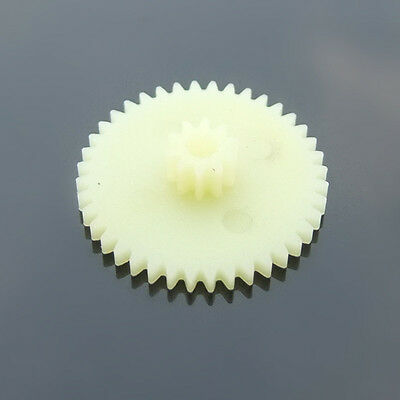 10pcs Double gear 40102B Yellow 0.4 mold Overlapping teeth Plastic gears DIY Toy