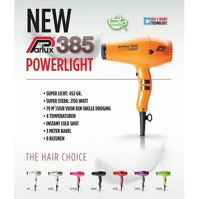 Secador Parlux 385 Power Light Naranja