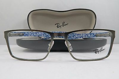 28dc193c763 Ray-Ban RB 8415 2620 Silver Blue Carbon Fiber New Authentic Eyeglasses 53mm  Case