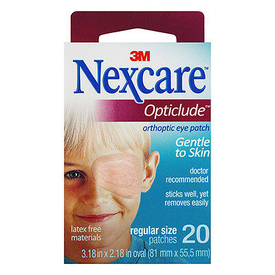NEW Nexcare Eye Patch Pack Orthoptic Eye Patch Hypoallergenic Regular