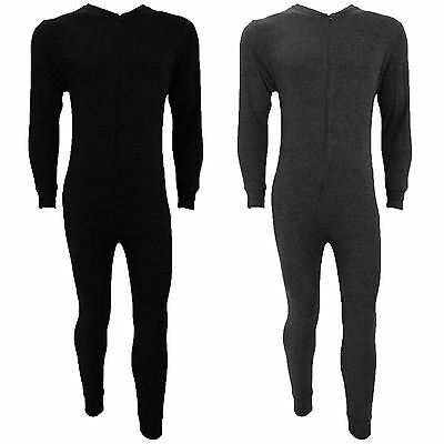 Kids All In One Thermal Onesie Underwear Sets Zip Up Base Layer Body Suit 2-13
