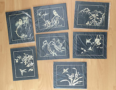 Set of 7 Handmade wheat stalk picture