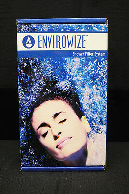NEW In Box ENVIROWIZE Shower Filter System #ENV1100: Cartridge, Hose & Head, USA