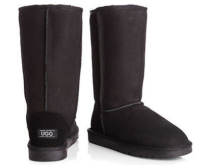 OZWEAR Connection Classic Long Ugg Boot - Black