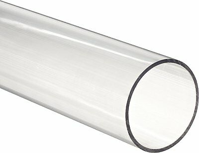"""Clear Polycarbonate Tubing, 5/8"""" Id, 3/4"""" Od, 1/16"""" Wall, 3' Length"""