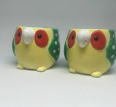 Vintage Fitz and Floyd Green Parrot Mug 1979 FF Set Of 2 Cups
