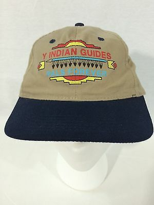 YMCA Y INDIAN GUIDES Pals Forever Khaki Navy Baseball Cap Adjust One Size
