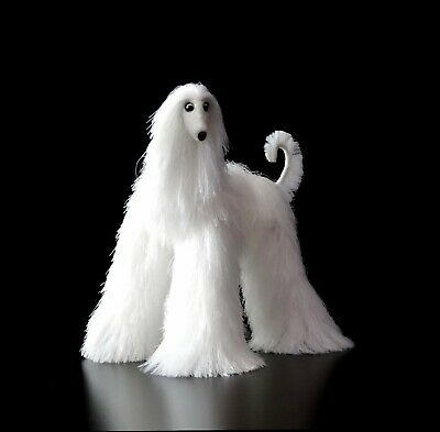 Collectibles Animals, white afghan hound, cute plush toy, stuffed animals,