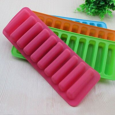 Mold Ice Tray Silicone Strip Cylinder Cube Stick Chocolate Cookie Bottle Biscuit