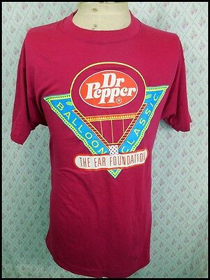 Vintage 1980s USA Made Soft Poly/Cotton Dr Pepper Balloon Classic T-shirt XL
