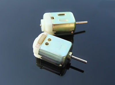 2x NEW 130 motor With cooling holes DC small motor Toy car Motor 4V/20000 rpm