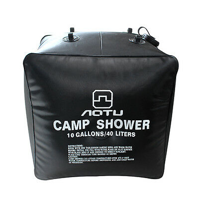 40L/10 Gallon Camping Hiking Portable Solar Heated Outdoor Shower Pipe Water Bag