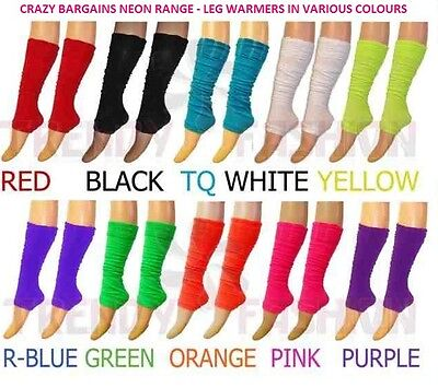 Neon UV Leg Warmers Legwarmers 1980s 80s Fancy Dress for Tutu Dance