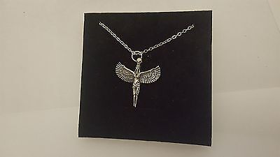 """Isis R134 English Pewter on a Silver Platinum Plated Necklace 18"""""""