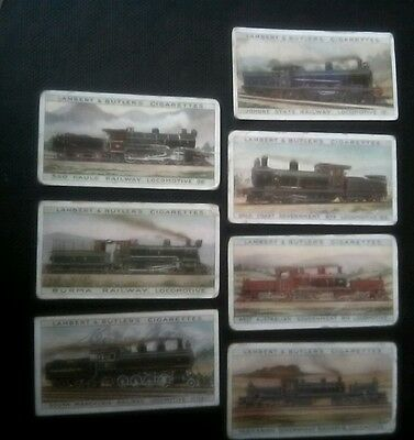 7 Lambert and Butler Cigarette Cards..... Worlds Locomotives (Additional series)