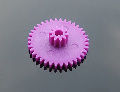 10 pcs Double gear 36102B purple 0.4 mold Overlapping teeth Plastic gears DIY