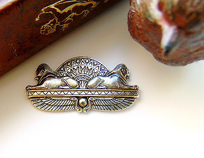 SILVER Egyptian Spinx Lion Stamping - Jewelry Antique Silver Finding (C-505)