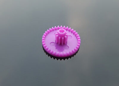 10 pcs Double gear C36102B purple 0.4 mold Overlapping teeth Plastic gears DIY