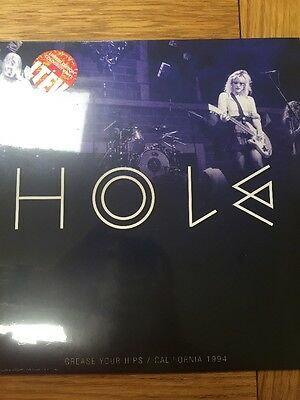 Hole 'Grease Your Hips San Francisco 1994' New 2x red & white splatter Vinyl LP
