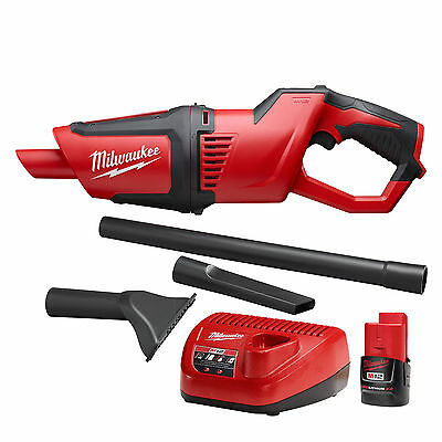 Milwaukee M12 Compact Cordless Vacuum w/ M12 Battery and Charger 0850-20 New