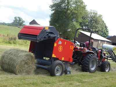 DEMO UNIT--TM57 3 x 3 Round Hay Baler by Abbriata for compact tractors