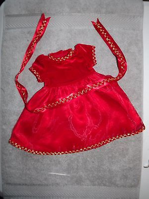 New Without Box- American Girl Doll Berry Red Holiday/party  Dress