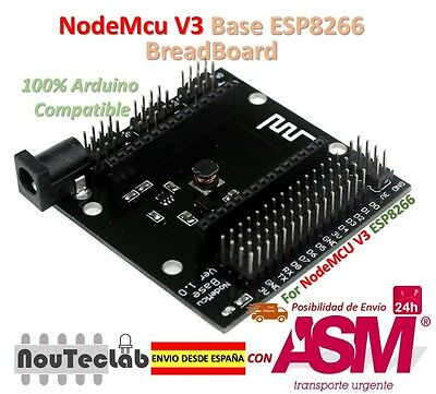 NodeMCU V3 Base Board Breadboard for ESP-12E from ESP8266 esp 12E for NodeMcu V3