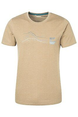 Mountain Warehouse Peaks T-shirt Homme Col rond Manches Courtes respirant